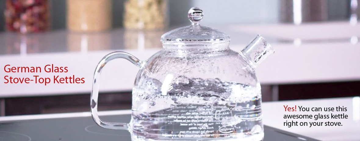 German Glass Stove-Top Kettles