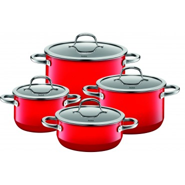 Silit Passion Colors 8 Piece Set Red Silit Cookware, Silit Silargan Ceramic Cookware Sets, Silit Passion Colors Collection